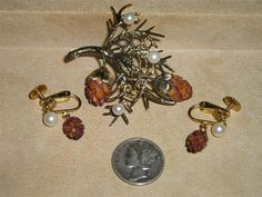 Signed Wells Sterling Silver Brooch And Earrings by drjewelsvern