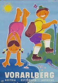 Vorarlberg, Austria, Osterreich, Autriche - vintage travel poster