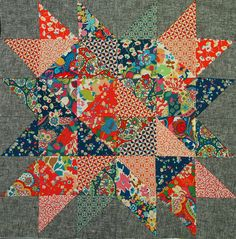constellation block by ImAGingerMonkey, via Flickr - Liberty Lifestyle Fabrics