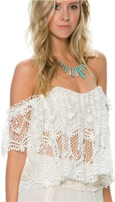 Lace tube top by Stone Cold Fox http://www.swell.com/Sun-Scorched/STONE-COLD-FOX-HOLY-LACE-TUBE?cs=IV