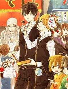 SadoMayo - HijiOki Okikagu, Cartoon Shows, Image Boards, Kawaii Anime, Samurai, Chibi, Fan Art, Illustration, Silver