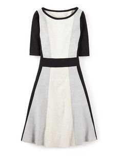 """Boden: Milano Dress, redux, this time in a mellow """"black/silver/grey mélange."""" Hmmm..."""