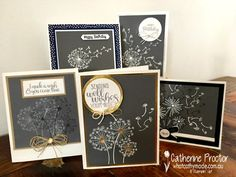 Art With Heart Colour Creations Blog Hop: Week 2 Basic Gray - What Cathy Made Healing Wish, Get Well Cards, Some Cards, Wish You Well, Basic Grey, Dandelion Wish, Stampin Up Catalog, I Card, Flower Cards