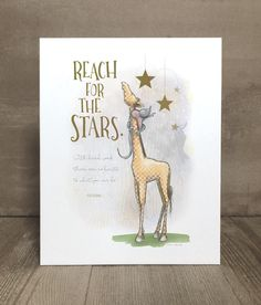Items similar to Children's giraffe and stars art print, nursery art, kid character trait, perseverance on Etsy Reaching For The Stars, Giraffe Print, Nursery Art, Kids Bedroom, Art Prints, Animal Prints, Playroom, Art For Kids, Hard Work