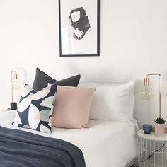 After a busy weekend we could think of nothing better than collapsing into this heavenly bed styled by the A Team at KMode Real Estate Stylists featuring our Luca Linen Cushion  Eadie  www.eadielifestyle.com.au