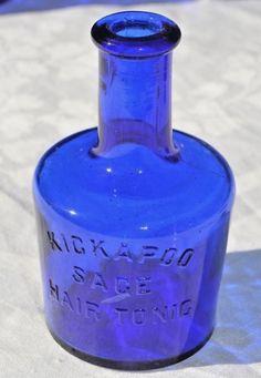 MINT COBALT BLUE KICKAPOO SAGE HAIR TONIC   eBay