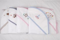 Practical and beautiful - a lovely baby gift too. Hood towels to wrap around baby after bathing. The hood keeps his/ her head warm and dries the hair nicely while the rest of the towel wraps around babies' body. Towel Wrap, Baby Products, Little Ones, Nike Jacket, Towels, Baby Gifts, Bathing, Wraps, Rest