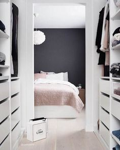 Interior Envy: 15 Minimal Bedrooms These minimal bedroom interiors will inspire you to create a stylish look regardless of your space. Pink Gray Bedroom, Rose Bedroom, Bedroom Decor, Bedroom Interiors, Pink Room, Bedroom Inspo, Dream Bedroom, Room Inspiration, Interior Inspiration