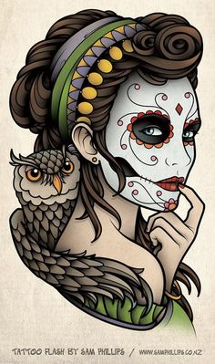 Google Image Result for http://www.samphillips.co.nz/assets/Uploads/_resampled/SetWidth487-tattoo-day-of-the-dead-owl.jpg