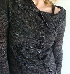 Ravelry: Grey Twist Cardi pattern by Judy Brien