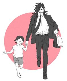I'm sure Madara would have made a better father to Sarada than Sasuke was. This pic is just too cute. Madara Uchiha, Naruto Uzumaki, Naruto Anime, Naruto Sasuke Sakura, Sakura Haruno, Kakashi, Naruto Images, Naruto Pictures, My Little Pony