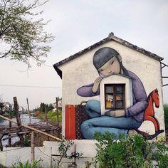 Street art & graffiti by Seth Globepainter (Julien Malland) - 7 3d Street Art, Murals Street Art, Urban Street Art, Amazing Street Art, Street Art Graffiti, Street Artists, Urban Art, Foto Twitter, Arte Banksy