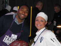 #LeCordonBleu students from #LCBMSP at the Taste of the Vikings, a NFL fundraising event on 11/19/2012.