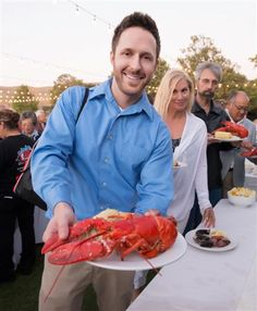 Sean Bradford with his lobster!