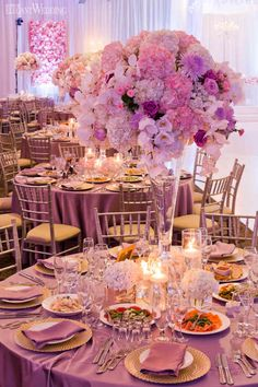 Purple And Pink Wedding Theme Pink Purple Wedding, Pink Wedding Theme, Our Wedding, Dream Wedding, Purple And Gold Wedding Themes, Purple Wedding Decorations, Wedding Flowers, Quince Themes, Quince Decorations