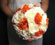 Blaze Orange Artificial Wedding Flowers