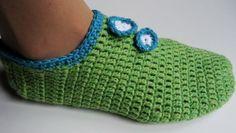 Heklane papuče - popke, pape ili priglavci (Crochet Slippers) - Pletenje 27
