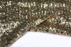 Weiteres - Gold-Pailletten Stoff von der Werft Fat Quarter - ein Designerstück von Craftasy bei DaWanda