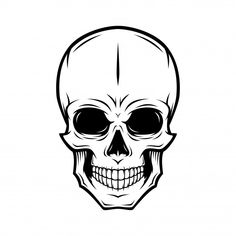 Discover thousands of Premium vectors available in AI and EPS formats Chat Halloween, Stix And Stones, Fond Design, Skull Sketch, Small Canvas Art, Black White Tattoos, Skull Illustration, Macabre Art, Hip Hop Art