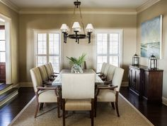 Upholstered dining chair around dining table | Usual House