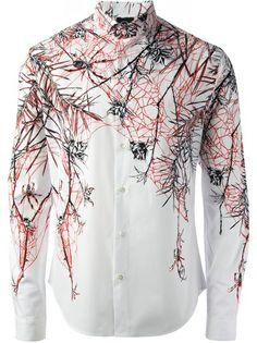 MCQ BY ALEXANDER MCQUEEN - Camisa estampada branca 6