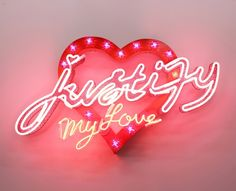 neon sign font letter text art Chris Bracey
