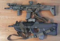 F2000 on bottom. SCAR-L on top. jdmFind our speedloader now!  http://www.amazon.com/shops/raeind