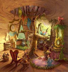 The Art Of Disney Fairies — asktheneverfairies: Beck's home. Hades Disney, Disney Art, Dungeons And Dragons Homebrew, Pixie Hollow, Fairy Pictures, Beautiful Fantasy Art, Disney Fairies, Environment Concept Art, Flower Fairies