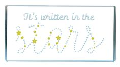 "Sweet Love Gifts ""It's written in the stars"" Glass Landscape Token, Spaceform Glass."