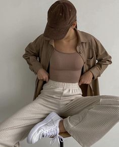 Retro Outfits, Cute Casual Outfits, Fall Outfits, Look Fashion, Fashion Outfits, Womens Fashion, Mode Dope, Brown Outfit, Looks Style