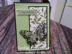 Carolyn's Card Creations: Birthday Butterfly Card