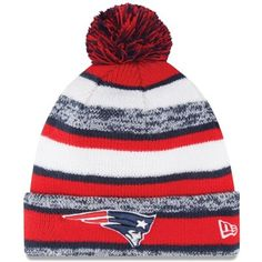 NEED THIS!  New Era New England Patriots Red On-Field Sport Sideline Cuffed Knit Hat