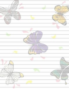 Free Printable Writing Paper (48) by Aimee-Valentine-Art.deviantart.com on @deviantART Printable Lined Paper, Free Printable Stationery, Paper Journal, Journal Cards, Lined Writing Paper, Writing Papers, Filofax, Butterfly Template, Valentines Art