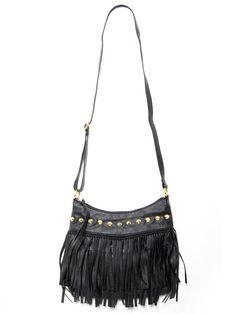 Fringe Studded Bag - Handbags - Accessories - Accessories #STYLESFORLESS