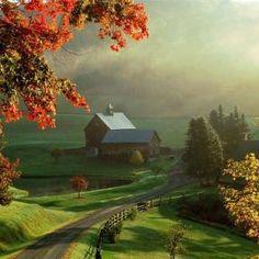 Sleepy Hollow Farm, Woodstock, Vermont, New England region of the northeastern United States shared via FB by Wonderful Places Beautiful Farm, Beautiful World, Beautiful Places, Beautiful Pictures, Beautiful Scenery, Beautiful Morning, Wonderful Places, Natural Scenery, Stunningly Beautiful