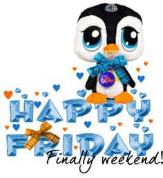 Happy Friday Finally Weekend! cute days weekend friday gif happy friday penguin days of the week weekdays friday greeting