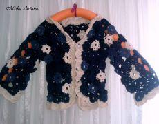 Jacket crocheted flowers - Flowers by Mishaartunic on Etsy Apple Flowers, White Flowers, Wool Thread, Lavender Bags, Spring And Fall, Crochet Flowers, Wool Felt, Merino Wool, Light Blue