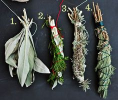 Smudge sticks are tightly bound bundles of dried woody, resinous herbs, that are slowly burned as a way to purify and cleanse the air. While the roots of burning a smudge stick, or smudging, is in … Make Your Own, Make It Yourself, How To Make, How To Use Sage, Deco Nature, Ideias Diy, Deco Floral, Smudge Sticks, Kitchen Witch