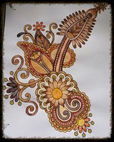 Margreet Hena Designs, Zentangle, Den, Holland, Coloring Books, Paisley, Art Ideas, Mandala, Brooch