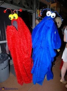 Sesame Street Yip Yips! - Homemade costumes for couples #halloween #costume how funny are these guys?! I wouldn't be able to stop laughing if I saw them!!!!