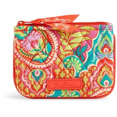Vera Bradley Coin Purse in Paisley in Paradise (13 CAD) ❤ liked on Polyvore featuring bags, wallets, paisley in paradise, vera bradley, paisley wallet, coin pouch wallet, change purse wallet and paisley bag