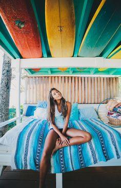 surfy bedroom