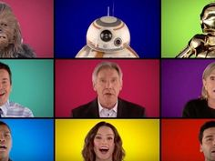 Jimmy Fallon and band The Roots join Carrie Fisher, Harrison Ford, Daisy Ridley, John Boyega, Oscar Isaac, Adam Driver, Gwendoline Christie and Lupita Nyong'o for an a cappella tribute to Star Wars.