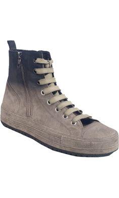 Ann Demeulemeester Double Side Zip Mid Top Sneaker