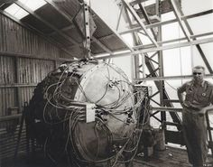 """""""The Gadget"""" (Trinity nuclear test device)."""