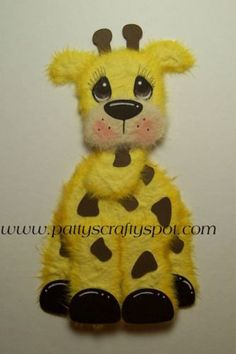 Items similar to Gina Giraffe Tear Bear Paper Piecing Embellishment by Patty on Etsy Bear Patterns, Craft Patterns, Paper Art, Paper Crafts, Baby Shower Templates, Craft Punches, Fabric Animals, Safari Party, Etsy Business