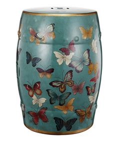 This Ceramic Butterfly Stool is perfect! #zulilyfinds