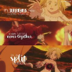 seven deadly sins meliodas and elizabeth cute and sad moments Anime Nerd, Sad Anime, Anime Life, I Love Anime, Seven Deadly Sins Anime, 7 Deadly Sins, Ban And Elaine, Httyd, Sin Quotes