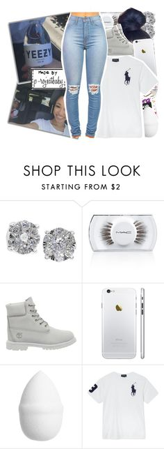 """""""« baby you a winner not a quitter »"""" by p-rojectbaby ❤ liked on Polyvore featuring Effy Jewelry, MAC Cosmetics, Timberland, H&M and Ralph Lauren"""
