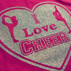 I Love #CHEER <3 #cheerleader #cheerleading #pink #glitter #cushioncover #bedroomdecor #girlsroom #decor #bed #cushion #silver #cheerleader #scorpion #needle #tumble #flip #jumps #sport #varsitycheerleader #allstarcheerleading #allstarcheer #allstar
